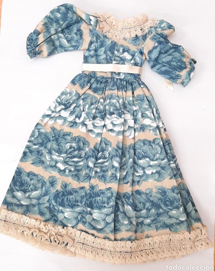 Muñecas Nancy y Lucas: Nancy Conjunto vestido y sombrero nostalgia azul años 70 - Foto 4 - 293590968