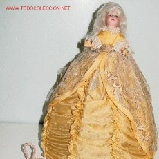 Muñecas Porcelana: PAREJA DE ANTIGUAS MUÑECAS LÁMPARA CON CABEZA DE PORCELANA ALEMANA- COMPLETAMENTE ORIGINAL DE 191. Lote 26742297
