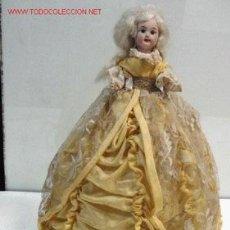 Muñecas Porcelana: ANTIGUA MUÑECA LAMPARA CON CABEZA DE PORCELANA ALEMANA - LA LAMPARA FABRICADA EN ESPAÑA ES COMPLETAM. Lote 26947831