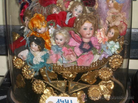 Muñecas Porcelana: IRREPETIBLE TRIPTICO DE CABEZAS DE MUÑECAS VARIADAS. PIEZAS UNICAS DE COLECCION - Foto 9 - 27553957