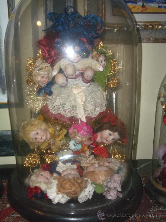 Muñecas Porcelana: IRREPETIBLE TRIPTICO DE CABEZAS DE MUÑECAS VARIADAS. PIEZAS UNICAS DE COLECCION - Foto 11 - 27553957