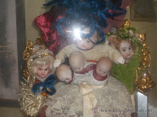 Muñecas Porcelana: IRREPETIBLE TRIPTICO DE CABEZAS DE MUÑECAS VARIADAS. PIEZAS UNICAS DE COLECCION - Foto 12 - 27553957