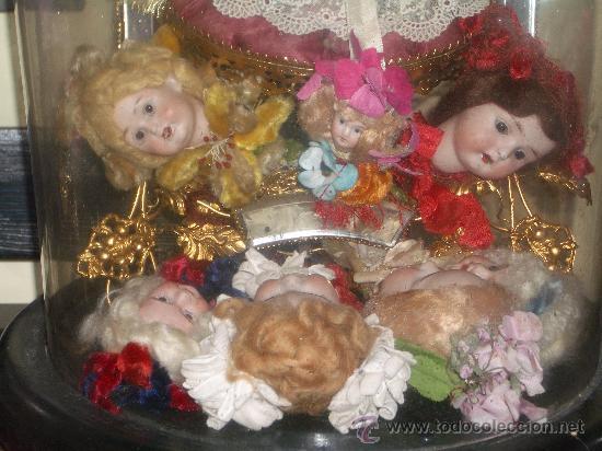 Muñecas Porcelana: IRREPETIBLE TRIPTICO DE CABEZAS DE MUÑECAS VARIADAS. PIEZAS UNICAS DE COLECCION - Foto 13 - 27553957