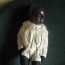 Muñecas Porcelana: MUÑECO NEGRO ALEMAN DM MODELO COL. Nº 20 , CABEZA PORCELANA Y RELLENO, PRINCIPIO SIGLO XX, . Lote 25142963
