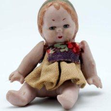 Muñecas Porcelana: MUÑECA DE PORCELANA ARTICULADA MINIATURA AÑOS 20. Lote 24297681