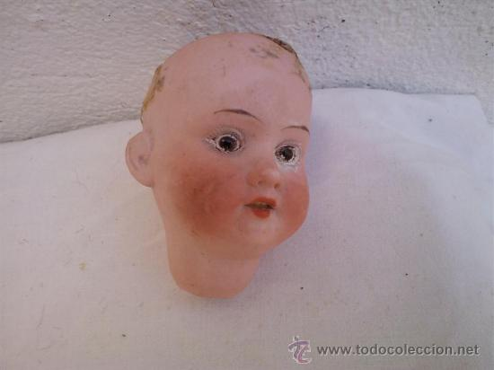Muñecas Porcelana: cabeza de muñeca antigua alemana biscui - Foto 2 - 30693527