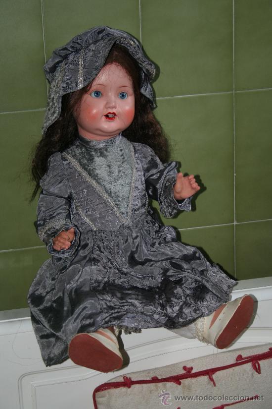 Muñecas Porcelana: antigua muñeca marcada en la nuca sb o sp - Foto 3 - 31032379
