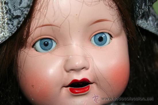 Muñecas Porcelana: antigua muñeca marcada en la nuca sb o sp - Foto 2 - 31032379