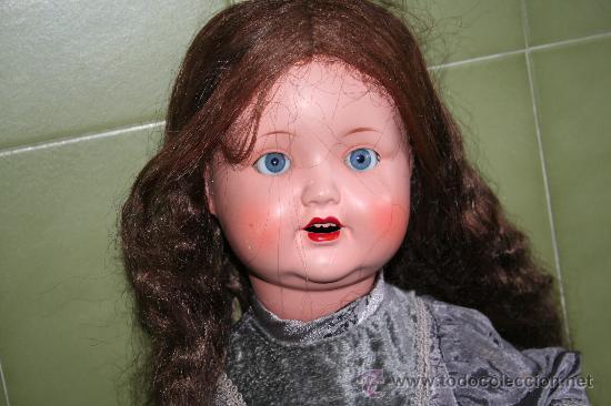 Muñecas Porcelana: antigua muñeca marcada en la nuca sb o sp - Foto 4 - 31032379