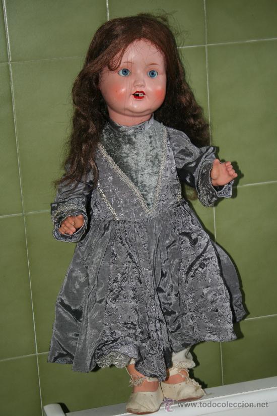 Muñecas Porcelana: antigua muñeca marcada en la nuca sb o sp - Foto 5 - 31032379