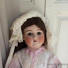 Muñecas Porcelana: PRECIOSA MUÑECA CABEZA DE PORCELANA ALEMANA ANTIGUA. Lote 32603244