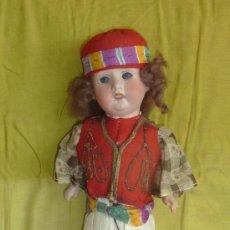 Muñecas Porcelana: ANTIGUA MUÑECA DE PORCELANA, CON CUERPO DE CARTON PIEDRA, MARCADA EN NUCA 21 GERMANY. Lote 33630063