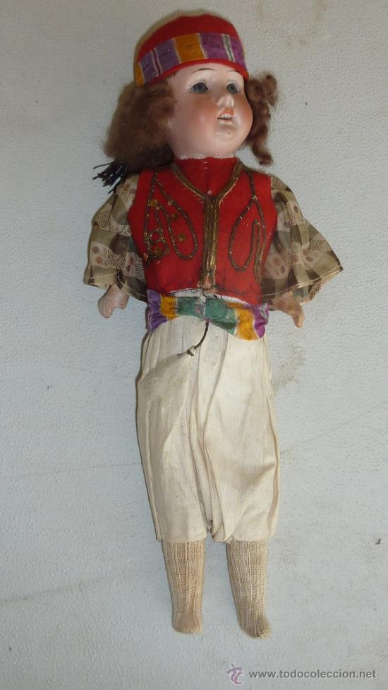 Muñecas Porcelana: Antigua muñeca de porcelana, con cuerpo de carton piedra, marcada en nuca 21 germany - Foto 2 - 33630063