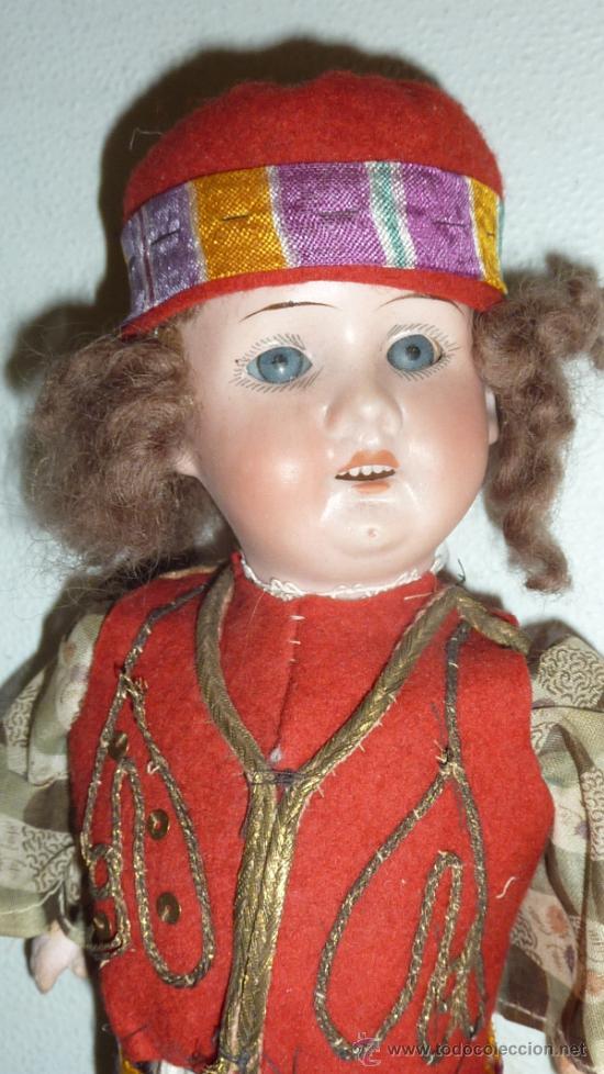 Muñecas Porcelana: Antigua muñeca de porcelana, con cuerpo de carton piedra, marcada en nuca 21 germany - Foto 3 - 33630063
