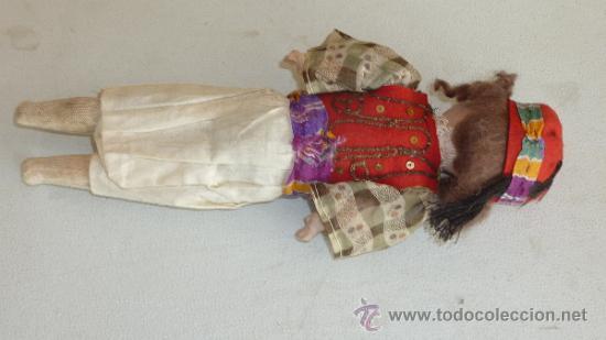 Muñecas Porcelana: Antigua muñeca de porcelana, con cuerpo de carton piedra, marcada en nuca 21 germany - Foto 7 - 33630063