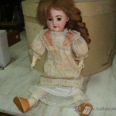 Muñecas Porcelana: MUÑECA ORIGINAL ARMAND MARSEILLE ALEMANA CON MARCAJE DE 1894 ,OJOS ARTICULADOS Y CUERPO DE MACHE. Lote 34272594