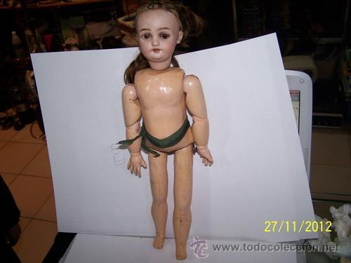 Muñecas Porcelana: Simon Halbig muñeca antigua rara - Foto 2 - 34590944