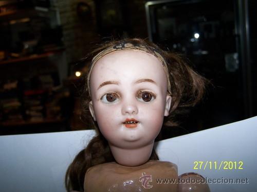 Muñecas Porcelana: Simon Halbig muñeca antigua rara - Foto 4 - 34590944