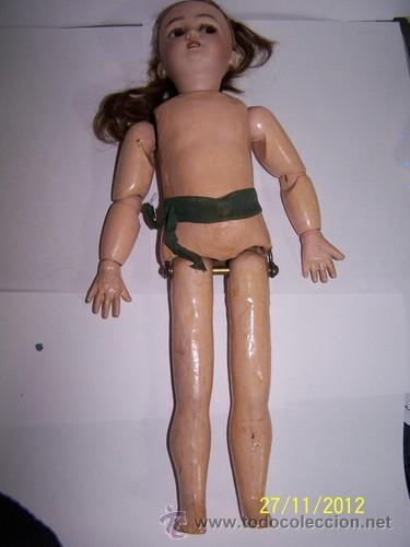 Muñecas Porcelana: Simon Halbig muñeca antigua rara - Foto 9 - 34590944