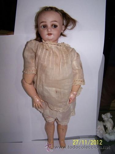 Muñecas Porcelana: Simon Halbig muñeca antigua rara - Foto 10 - 34590944
