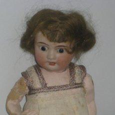 Muñecas Porcelana: ANTIGUA MUÑECA BEBÉ ALEMANIA 1920, CABEZA DE PORCELANA PERFECTA CON PELUCA DE CABELLO DE MOHAIR,. Lote 42995411