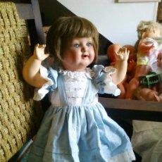 Muñecas Porcelana: ANTIGUO MUÑECO ALEMAN , CABEZA DE PORCELANA. Lote 36528439