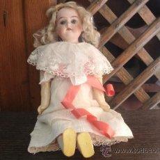 Muñecas Porcelana: ANTIGUA MUÑECA DE PORCELANA ALEMANA ORIGINAL ARMAND MARSEILLE CON MARCAJE Y ORIGINAL DEL SIGLO XIX. Lote 38077273