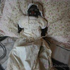 Muñecas Porcelana: ANTIGUO MUÑECO NEGRITO O NEGRO DE PORCELANA . Lote 38712734