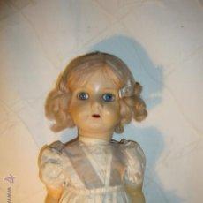 Muñecas Porcelana: EXCELENTE MUÑECA ANTIGUA PELO MOHAIR OJOS CRISTAL, TOTALMENTE VESTIDA TODA ORIGINAL 100X100 1910/20. Lote 43598846