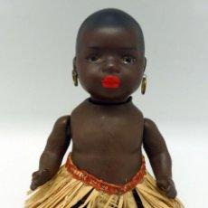 Muñecas Porcelana: MUÑECO NEGRO AFRICANO PORCELANA HEUBACH GERMANY 399 MARCA EN LA NUCA FIN S XIX. Lote 45683551