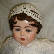 Muñecas Porcelana: ANTIGUA MUÑECA PORCELANA SIMON HALBING (YUTA 1914), CUERPO CERÁMICA, OJOS CRISTAL, 78CM ALTO. Lote 46205017