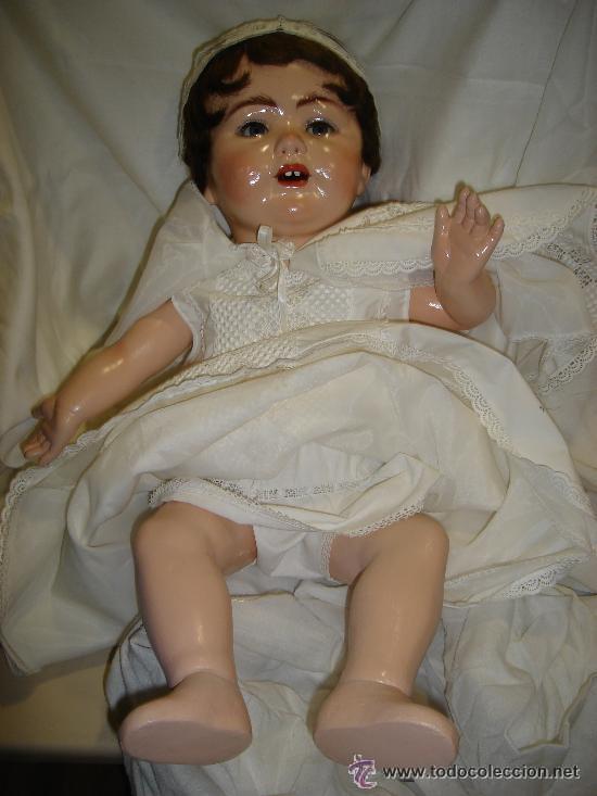 Muñecas Porcelana: ANTIGUA MUÑECA PORCELANA SIMON HALBING (YUTA 1914), CUERPO CERÁMICA, OJOS CRISTAL, 78CM ALTO - Foto 8 - 46205017