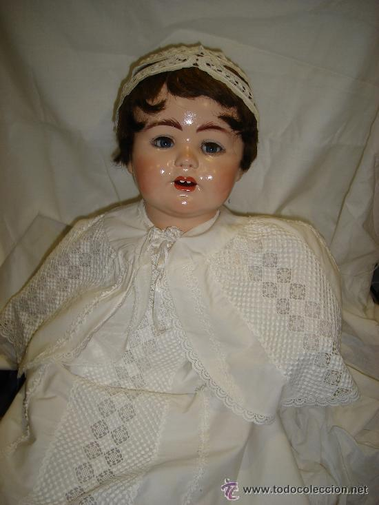 Muñecas Porcelana: ANTIGUA MUÑECA PORCELANA SIMON HALBING (YUTA 1914), CUERPO CERÁMICA, OJOS CRISTAL, 78CM ALTO - Foto 12 - 46205017