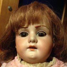 Muñecas Porcelana: MUÑECA ANTIGUA FLORODORA.CABEZA Y BRAZOS DE BISCUIT.CUERPO DE PIEL DE CABRITILLA. Lote 41147285