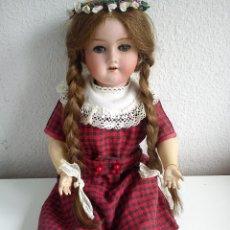 Muñecas Porcelana: PRECIOSA MONECA DE COLECION ALEMANA.GERMANY 3/0 DOS ANOS 1920 ,1930 OJOS DUEMIENTES DE CRISTAL. Lote 49158362