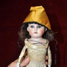 Muñecas Porcelana: MUÑECA DE PORCELANA DE MANUFACTURA ALEMANA (HEUBACH) DEP. CUERPO DE CABRITILLA. CIRCA 1900. Lote 53099572