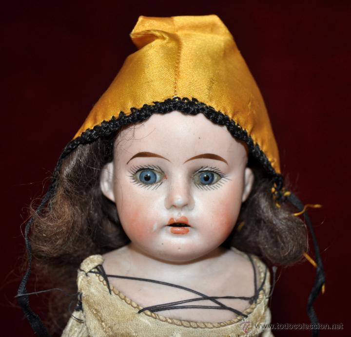 Muñecas Porcelana: MUÑECA DE PORCELANA DE MANUFACTURA ALEMANA (Heubach) DEP. CUERPO DE CABRITILLA. CIRCA 1900 - Foto 2 - 53099572