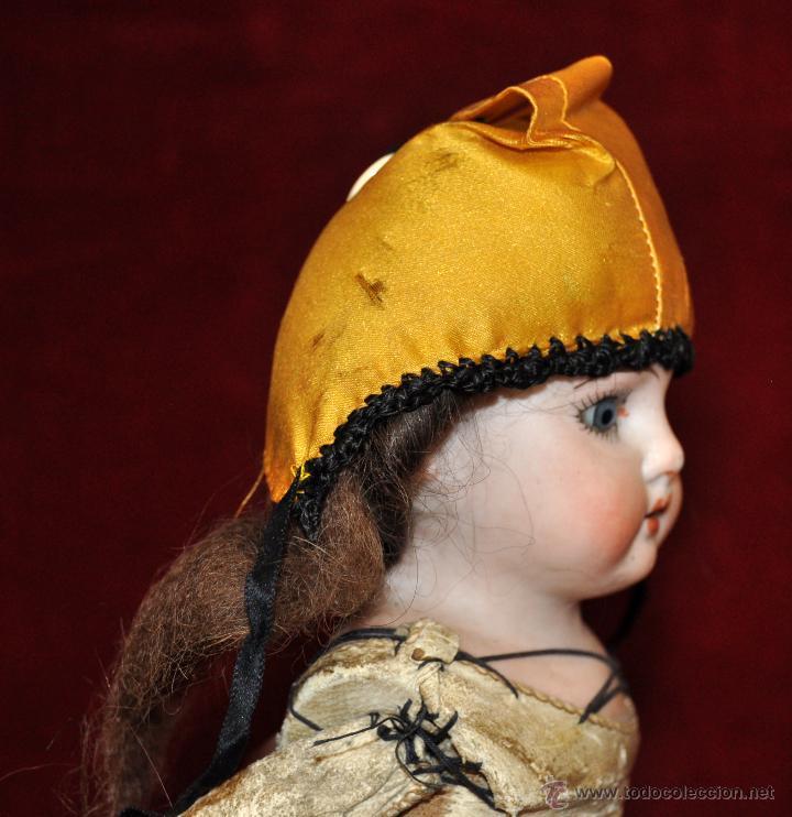 Muñecas Porcelana: MUÑECA DE PORCELANA DE MANUFACTURA ALEMANA (Heubach) DEP. CUERPO DE CABRITILLA. CIRCA 1900 - Foto 3 - 53099572