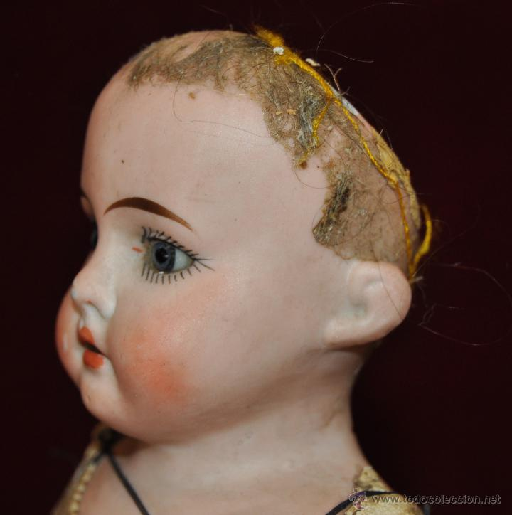 Muñecas Porcelana: MUÑECA DE PORCELANA DE MANUFACTURA ALEMANA (Heubach) DEP. CUERPO DE CABRITILLA. CIRCA 1900 - Foto 4 - 53099572
