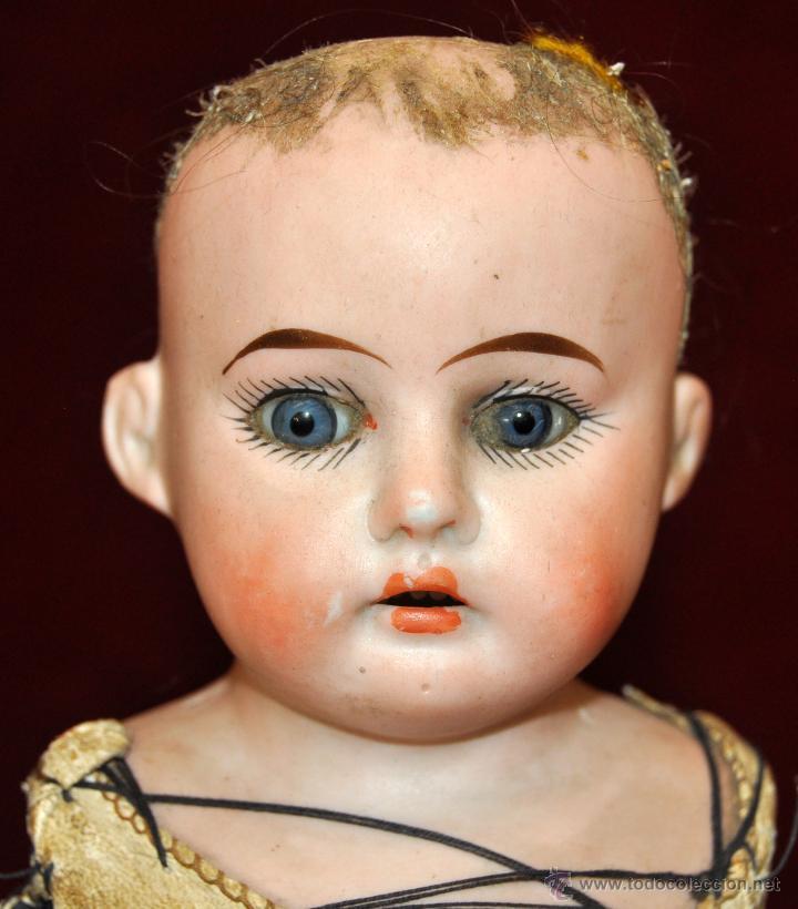 Muñecas Porcelana: MUÑECA DE PORCELANA DE MANUFACTURA ALEMANA (Heubach) DEP. CUERPO DE CABRITILLA. CIRCA 1900 - Foto 5 - 53099572