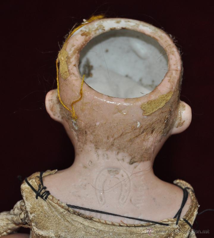 Muñecas Porcelana: MUÑECA DE PORCELANA DE MANUFACTURA ALEMANA (Heubach) DEP. CUERPO DE CABRITILLA. CIRCA 1900 - Foto 6 - 53099572
