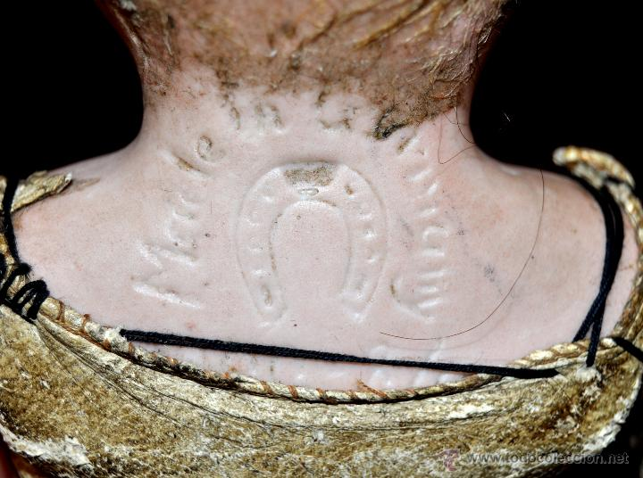 Muñecas Porcelana: MUÑECA DE PORCELANA DE MANUFACTURA ALEMANA (Heubach) DEP. CUERPO DE CABRITILLA. CIRCA 1900 - Foto 7 - 53099572