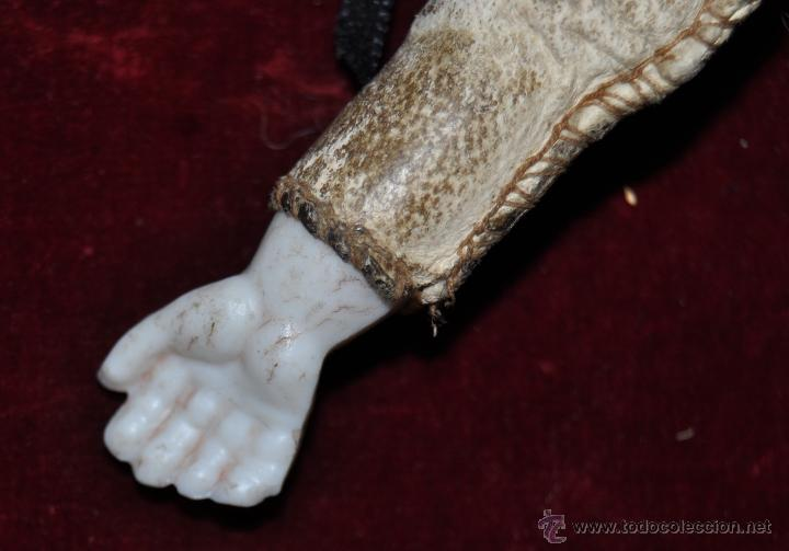 Muñecas Porcelana: MUÑECA DE PORCELANA DE MANUFACTURA ALEMANA (Heubach) DEP. CUERPO DE CABRITILLA. CIRCA 1900 - Foto 9 - 53099572