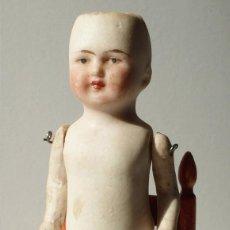Muñecas Porcelana: MUÑECA ALEMANA DE BISCUIT MARCADA EN LA ESPALDA. Lote 54028844