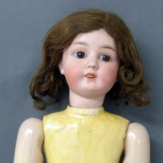 Muñecas Porcelana: MUÑECA ALEMANA CABEZA PORCELANA CON PELUCA MARCA NUCA DEP 44 - 29 CUERPO MADERA ARTICULADA PP XX. Lote 54610433