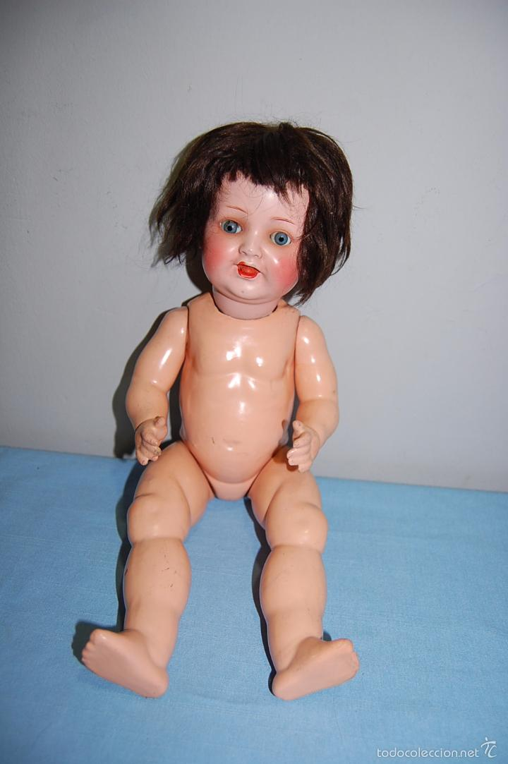 Muñecas Porcelana: MUÑECA ALEMANA CON OJOS BASCULANTES - MARCA DETRÁS DE LA CABEZA - - Foto 2 - 56552263