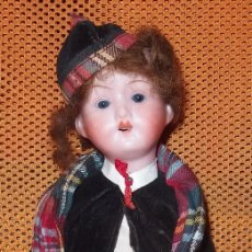 Muñecas Porcelana: NIÑO ESCOCÉS,PORCELANA,SCOTTISH BOY,WALTHER & SOHN,GERMANY,AÑO 1931. Lote 56998598