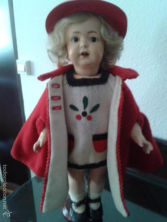 Muñecas Porcelana: PRECIOSA MUÑECA ANDADORA SIMON & HALBIG 126 ,MARCADA ,CON ROPAS ORIGINALES - Foto 3 - 57042231