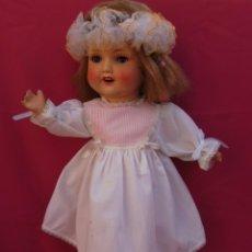 Muñecas Porcelana: ANTIGUA MUÑECA ALEMANA DE COMPOSICIÓN Y PORCELANA SONENNBERG!!!. Lote 57855335