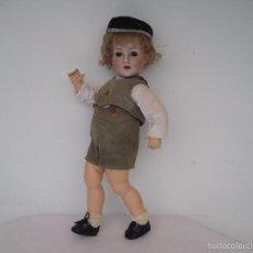 Muñecas Porcelana: MUÑECO DE CARACTER DE PORCELANA, GEBRÜDER HEUBACH (REVALO) 54 CM.. Lote 58606194